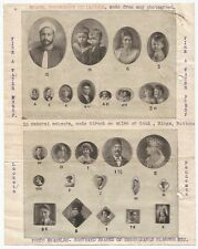 India Imperial Photo Bombay illustrated list for enamel miniatures & letter