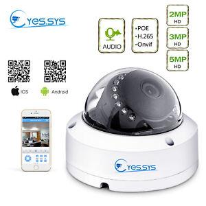 Eyes.sys H.265 Indoor POE HD 2/3/5MP IP Night Vision Audio Camera   CCTV NVR