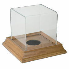 Mini Ball Display Case with Wood Base - Honey