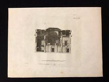 Antico 1800 Print costruttori MAGAZINE sezione di un tribunale contea XCVIII