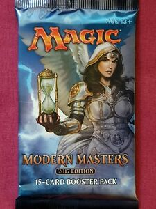 Magic The Gathering MODERN MASTERS 2017 EDITION MM3 New Sealed Booster Pack MTG