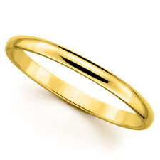 14k Yellow Gold 2-mm uNISEX Standard-fit Polished Wedding Band