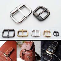 Metal Heavy Duty Leather Hand Bag Shoe Strap Belt Adjust Roller Pin Buckle Snap