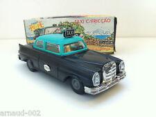 Pepe brinquedos - Mercedes Taxi noir à friction en plastique -  15 cm - Vintage