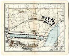 1902 Map LONDON Street Plan WOOLWICH Albert Dock BECKTON Silvertown GALLIONS