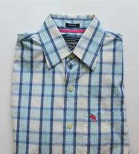 Men's Abercrombie & Fitch Muscle Fit 100% Cotton Plaid Shirt Size Small
