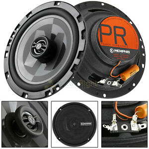 "Memphis Audio 6.5"" 2 Way Shallow Coaxial Speakers Power Reference 80W Max Pair"