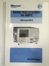 Marconi 2957A & 2957B Radio Test Systems for AMPS Operating Manual PN 46881-980X