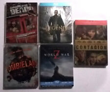 Lot Blu-ray Steelbook : ZOMBIELAND - WORLD WAR Z - SHAUN OF THE DEAD