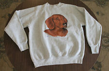 "VTG 1980s Fruit of the Loom Dachsund ""Max"" sweatshirt Men's Medium Weiner Dog"