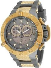 INVICTA MEN SUBAQUA NOMA IV SHARK EDITION CHRONOGRAPH GOLD GREY BAND WATCH 17212
