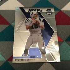 "Peyton Manning #299 MVP Colts legend  - MVP""s Card 2020 Panini MOSAIC Base RC"