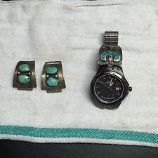 Mens Timex Expedition Watch with Turquoise on band Made in USA