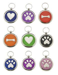 Pet id Tags DOG Discs,  Premium Personalised Engraved Quality Puppy Cat id Tags