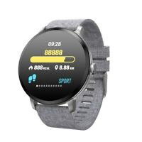 OLED Bluetooth Smartwatch V11 Pulsuhr Leinen Armband IP68 wasserdicht iOS Huawei