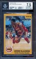 Akeem Olajuwon XRC Rookie Card 1984-85 Star #237 BGS 7.5 (6.5 9 9.5 9)