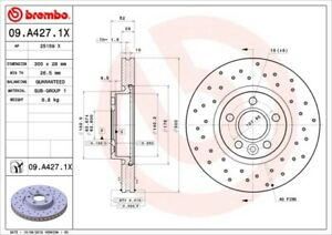 BREMBO XTRA Front Disc 300mm Volvo C70 V60 V70 XC70 S60 S80 LR000571 SOLD PAIR