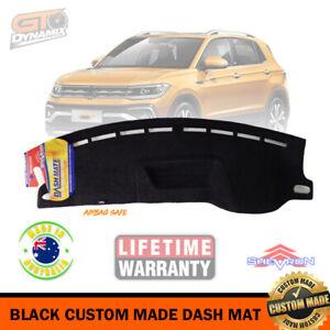BLACK Dash Mat for Volkswagen T-CROSS C1 85TSI LIFE - Style Jan/2020-21 DM1582