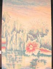 """Original Limited Edition Lithographs by Peggy Corthouts """"Summer Willow I"""""""