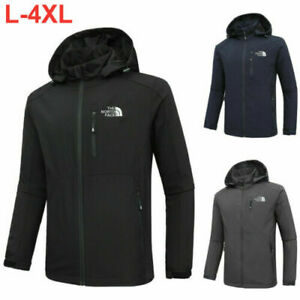 Men The North Face Full Zip Jacket Outdoor Hooded Jackets Casual Soft Shell Coat