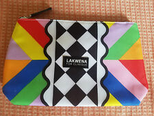 "Clinique Makeup Cosmetic case bag zipper NEW VERY PRETTY ""lakwena for clinique"""