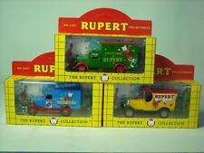 3x Lledo Die-cast THE RUPERT BEAR COLLECTION Vehicles Lorries MIB Lorry #3