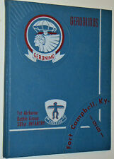 1961 Fort Campbell, Ky Us Army Yearbook! Geronimos! 1st Airborne/501st Infantry