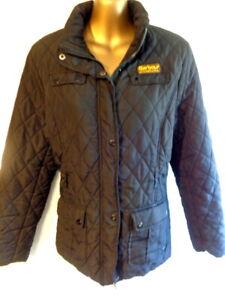 Barbour 12 Black quited fitted jacket (Belt missing) nice jacket  (3349