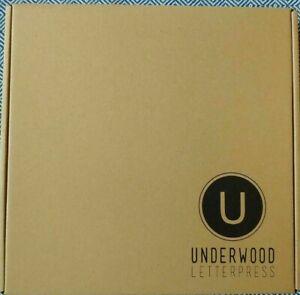 """UNDERWOOD LETTERPRESS Gray Felt Letterboard 10"""" x 10"""" White Letters - NEW IN BOX"""