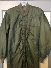 Vtg Mens Quilted Long Johns Fight Suit Lining Military Hunting Thermal One Piece