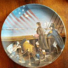 """Collector Plate """"Star Spangled Banner"""" Signed by Arthur Hastings Sloggett #1012"""