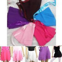 Color Girl Ballet Children Wrap Chiffon Dress Skirt Dance Tutu
