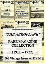 600 RARE AEROPLANE MAGAZINE ISSUES (1911-1922) ON DVD - WORLD WAR 1 AIRPLANE WW1