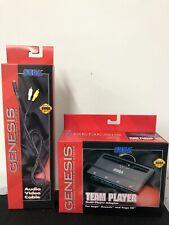 (1) <>Sega Genesis Audio Video Cable  & (1) Team Player adapter <> FREE S&H