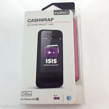 Incipio Cashwrap ISIS Mobile Wallet Case iPhone 4 4S AT&T Pink Retail value $69