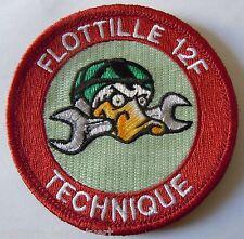 Insigne Patch AERONAVALE MARINE FLOTTILLE 12 F RAFALE TECHNIQUE Canard