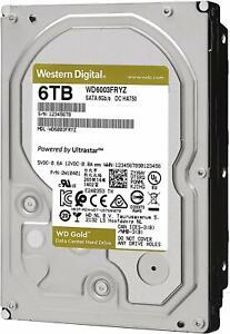 "WD Gold DC HA750 WD6003FRYZ 6TB Hard Drive - 3.5"" Internal - SATA (SATA/600)"
