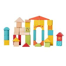 Eliiti Wooden Building Blocks Set Toy for Toddlers Kids 3 to 6 Years Old 38 Pcs