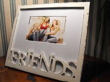 FRIENDS PHOTO FRAME GIFT white SHABBY CHICK FRAME best friends girlfriends frame