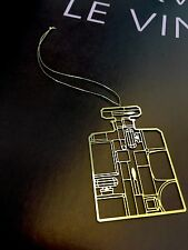 CHANEL Perfume Goldtone Metal Bookmark Ornament Ltd Edition for Chanel Lover New