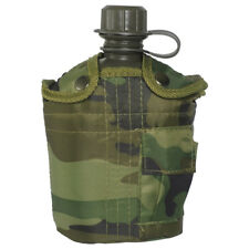 Mil-Tec Military Army Canteen Water Bottle Carrier Pocket Army Alice 1L Woodland