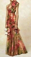 New NWT Marchesa Floral Ruffle Tulle Couture Long Dress Evening Gown IT 40 US 4