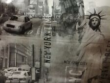 Statue of Liberty New York Mono PVC Vinyl Wipe Clean Oilcloth Tablecloth