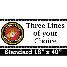 MARINES CORP CUSTOM BANNER Party Supplies FREE SHIPPING