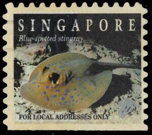 "SINGAPORE 684B - Marine Life ""Blue Spotted Stingray"" (pb37328)"