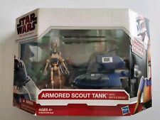 STAR WARS VÉHICULE ARMORED SCOUT TROOPER WITH BATTLE DROID SÉRIE THE CLONE WARS