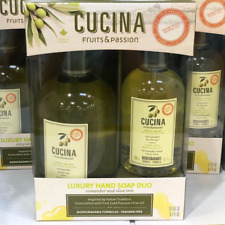 Fruits & Passion Cucina Coriander & Olive Tree Hand Soap Gift Set 16.9+6.7 fl oz