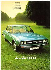 Audi 100 Saloon 1975-76 UK Market Sales Brochure LS GL