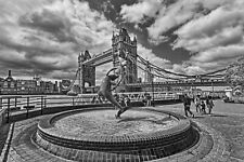Tower Bridge London Black and White | Vintage Poster | A1, A2, A3