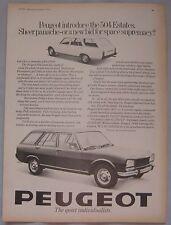 1971 Peugeot 504 Estates Original advert No.1